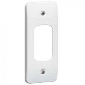 Front plate Synergy - for 1 Grid modules - architrave - white
