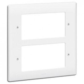 Front plate Synergy - for 8 Mosaic modules - 2x2 gang - white