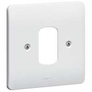 Front plate Synergy - for 1 Grid modules - 1 gang - white