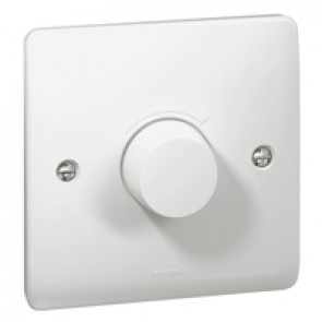 Rotary dimmer Synergy - 1 gang - 5 W/ 300 W- 100/240 V~ - 50/60 Hz - white