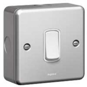 Single pole switch Synergy - 1 gang - intermediate - 10 AX 250 V~ - metalclad