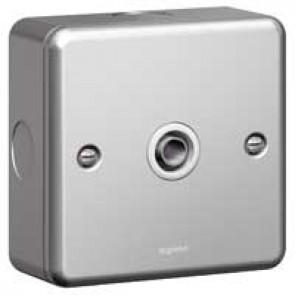 TV socket Synergy - single screened - male - metalclad