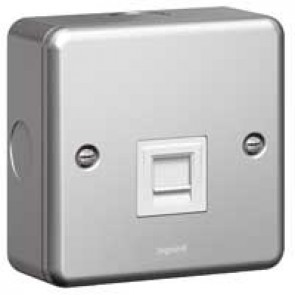 Telephone socket Synergy - single secondary - metalclad
