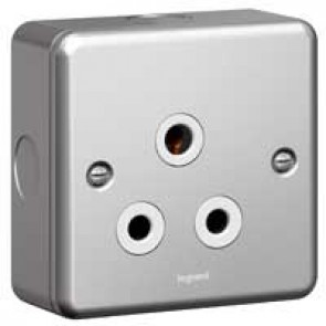 Socket outlet Synergy - 1 gang unswitched - 15 A 250 V~ - metalclad