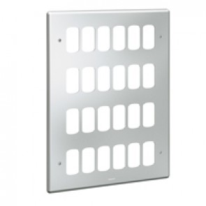 Front plate Synergy - for 24 Grid modules - 4x3 gang - metalclad