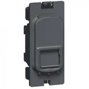 Data socket Grid modules Synergy - RJ 45 - Cat.6 - 8 contacts - anthracite