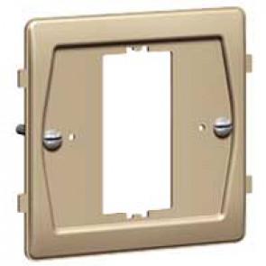 Yoke Synergy for 1 Grid modules - 1 gang - for white, stainless steel, satin brass