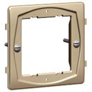 Yoke Synergy for 2 Grid modules - 1 gang - for white, stainless steel, satin brass