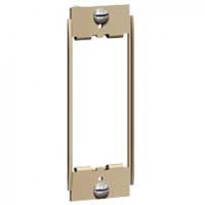 Yoke Synergy for 1 Grid modules - architrave - for white, stainless steel, satin brass