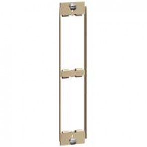 Yoke Synergy for 2 Grid modules - architrave - for white, stainless steel, satin brass