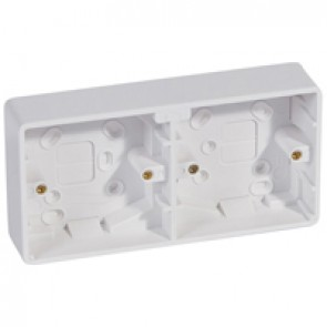 Surface mounting box Synergy - plastic - 2x1 gang - 35 mm deep