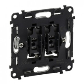 2-gang two-way switch Valena In'Matic - 10 AX 250 V~