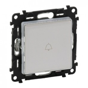Illuminated label-holder push-button Valena Life - 12 V - 6 A 250 V~ - 3 color