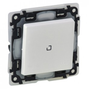 Illuminated two-way switch Valena Life - 10 AX 250 V~ - IP44 - white