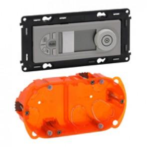 Programmable thermostat Valena In'Matic - aluminium