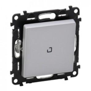 Illuminated intermediate switch Valena Life - 10 AX 250 V~ - alu