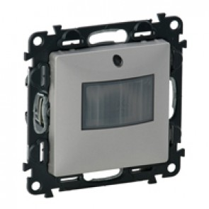 Motion sensor without neutral Valena Life - with cover plate - aluminium