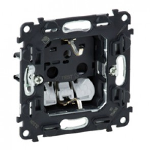 2P+E socket with shutters Valena In'Matic -auto. terminals -German standard -16-250 V~