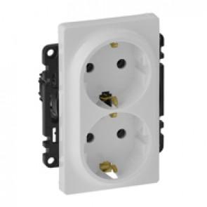 2x2P+E socket Valena Life - German standard - 16 A 250 V~ - white