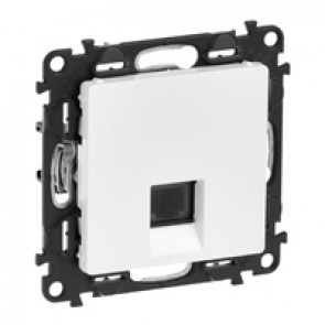 RJ 11 telephone socket Valena Life - with cover plate - white