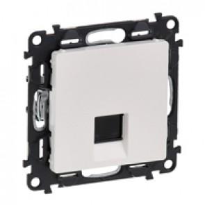 RJ 45 socket Valena Life - category 5e UTP - with cover plate - white