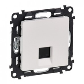 RJ 45 socket Valena Life - category 6 STP - with cover plate - white