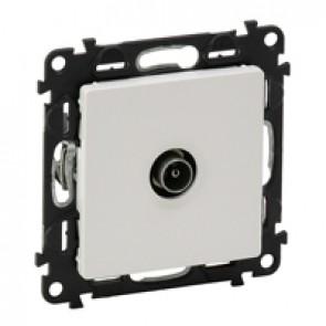 Male TV terminal socket Valena Life - attenuation 10 dB French - white