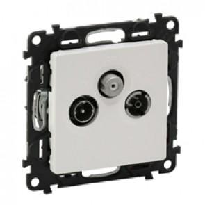 TV-R-SAT terminal socket Valena Life - attenuation 10 dB French - white