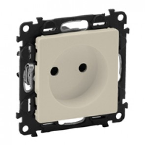 2P socket with shutters Valena Life - 16 A 250 V~ - with cover plate - ivory