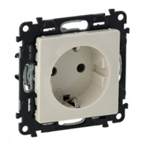2P+E socket with shut. Valena Life - automatic terminals - German standard -16 A -250 V~ -ivory