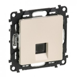 RJ 11 telephone socket Valena Life - with cover plate - ivory