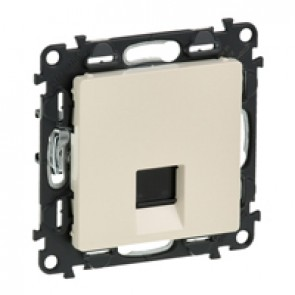 RJ 45 socket Valena Life - category 6 A STP - with cover plate - ivory