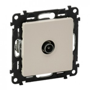 Male TV star socket Valena Life - attenuation 1 dB - with cover plate - ivory