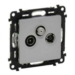 TV-R-SAT star socket Valena Life - attenuation 1.5 dB - alu