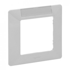 Plate Valena Life - with label holder (horizontal) - 1 gang - white