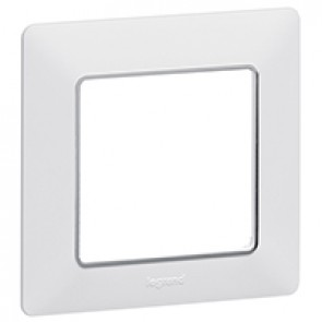 Plate Valena Life - 1 gang - white/chrome
