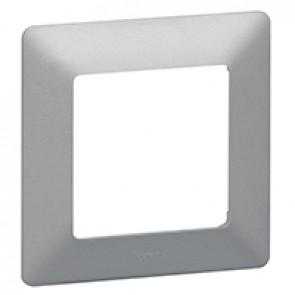Plate Valena Life - 1 gang - aluminium