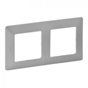 Plate Valena Life - 2 gang - aluminium