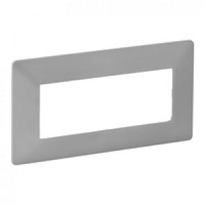 Plate Valena Life - 5 modules open plate - aluminium