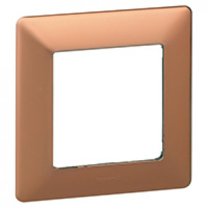 Plate Valena Life - 1 gang - copper style
