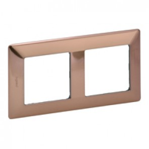 Plate Valena Life - 2 gang - copper style