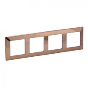 Plate Valena Life - 4 gang - copper style