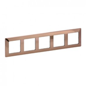 Plate Valena Life - 5 gang - copper style