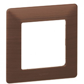 Plate Valena Life - 1 gang - dark wood