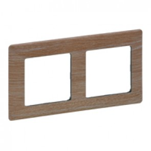 Plate Valena Life - 2 gang - light wood