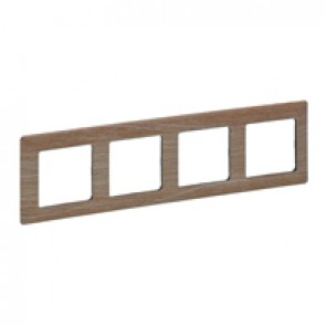 Plate Valena Life - 4 gang - light wood