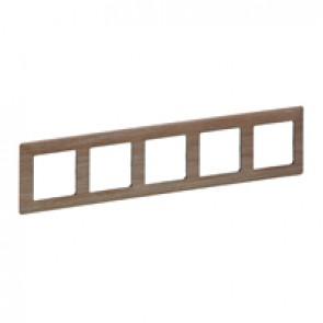 Plate Valena Life - 5 gang - light wood