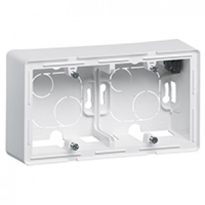 2-gang surface-mounting box Valena Life - 160 x 89 x 44.8 mm - white
