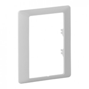 Plate Valena Life - single plate - specific 2x2P+E double socket outlet - white