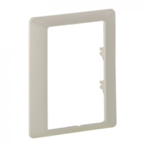 Plate Valena Life - single plate - specific 2x2P+E double socket outlet - ivory